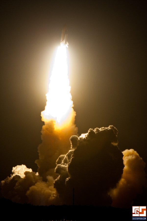 space shuttle endeavour night launch - photo #11